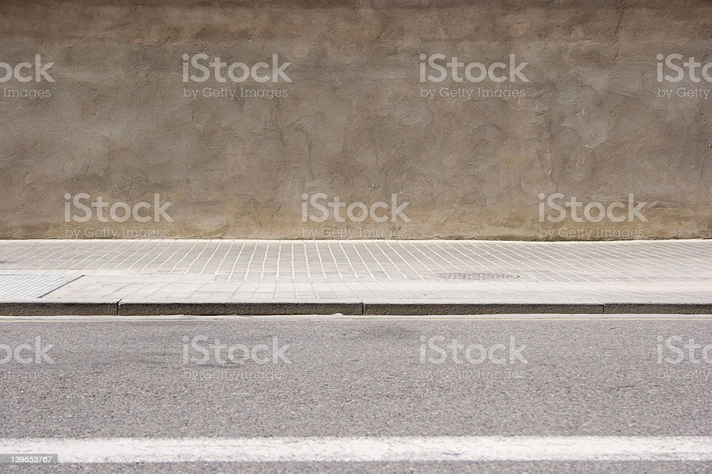 empty street stock photo