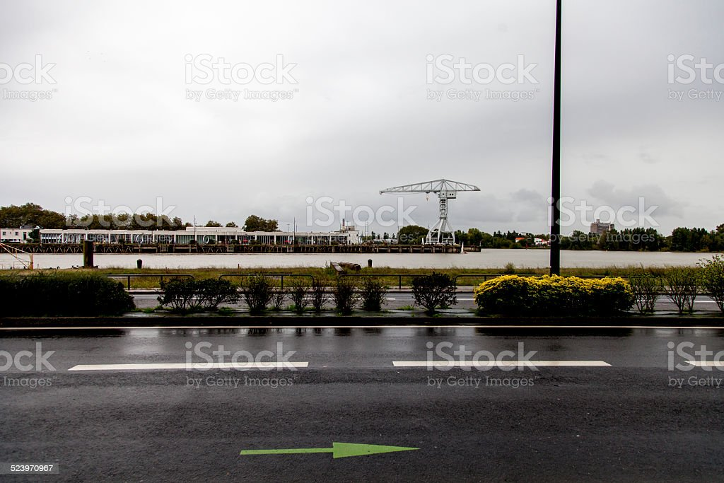 Empty street royalty-free stock photo