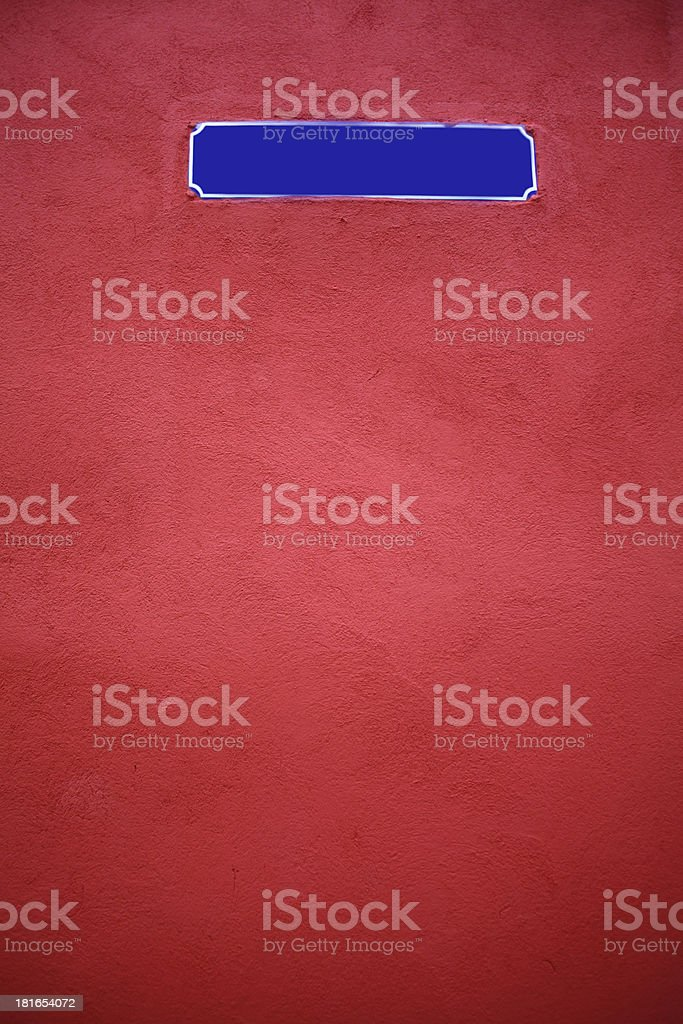 Empty street sign royalty-free stock photo