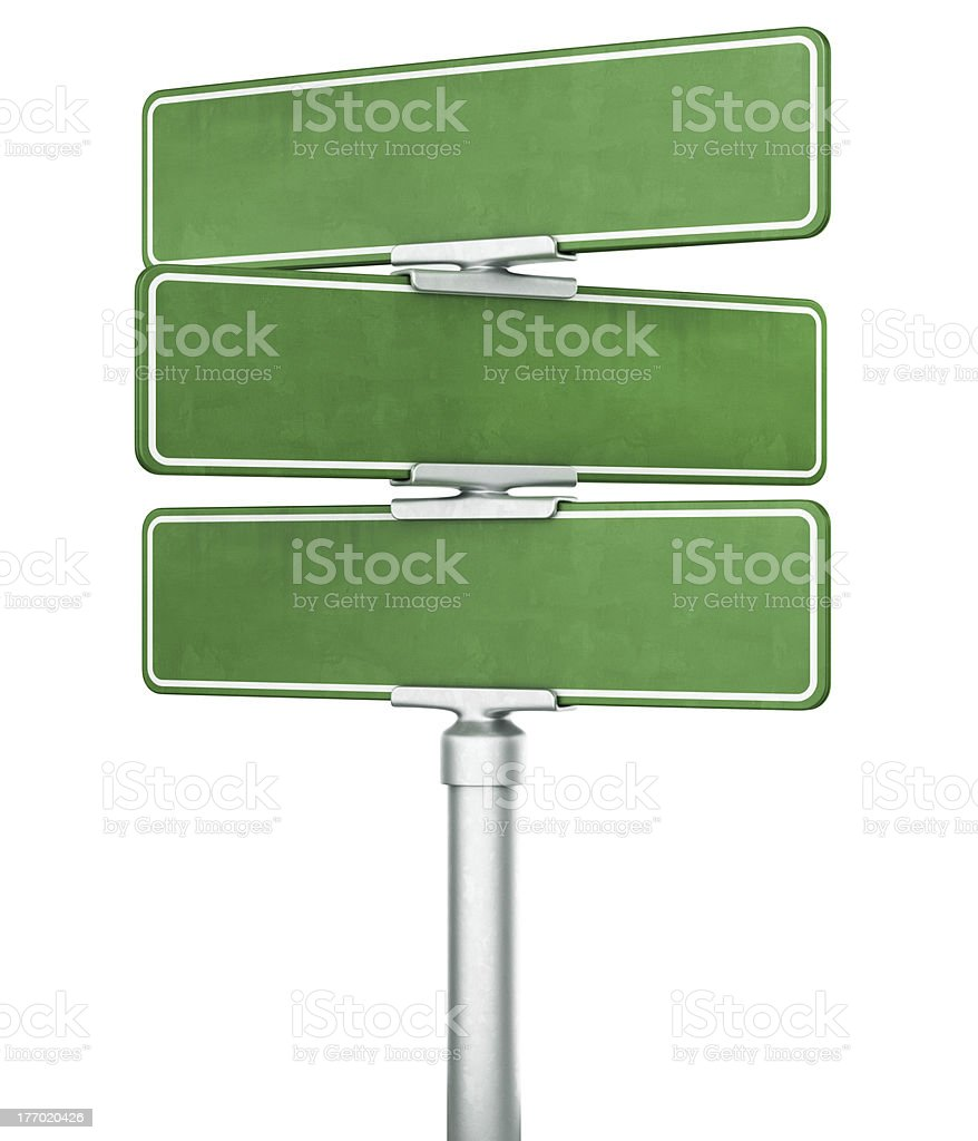 Empty street signs stock photo