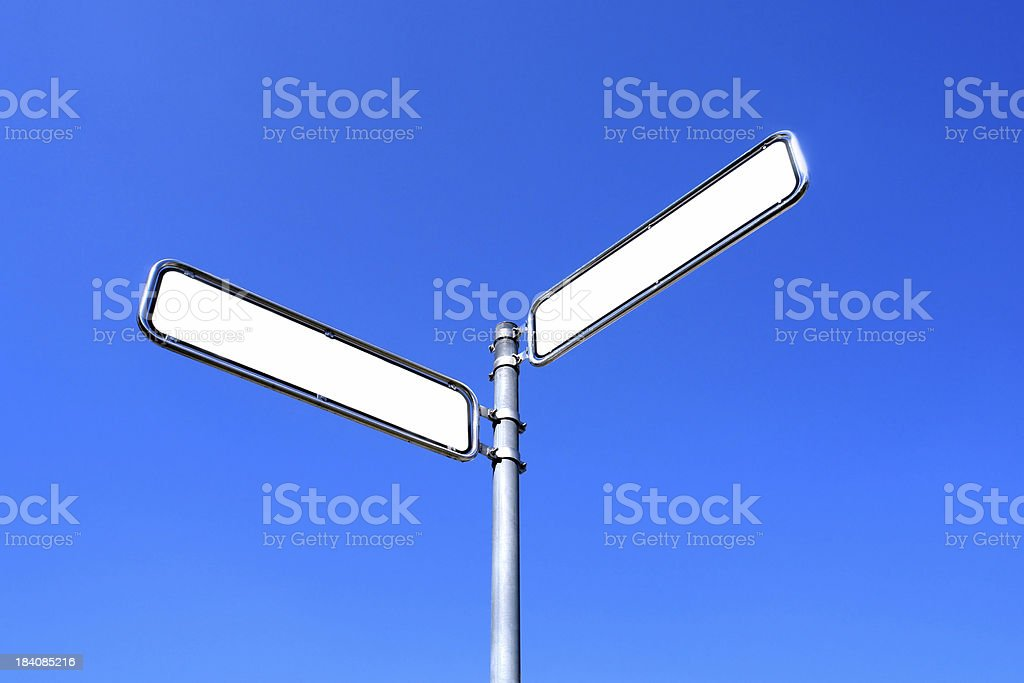 Empty street signs royalty-free stock photo