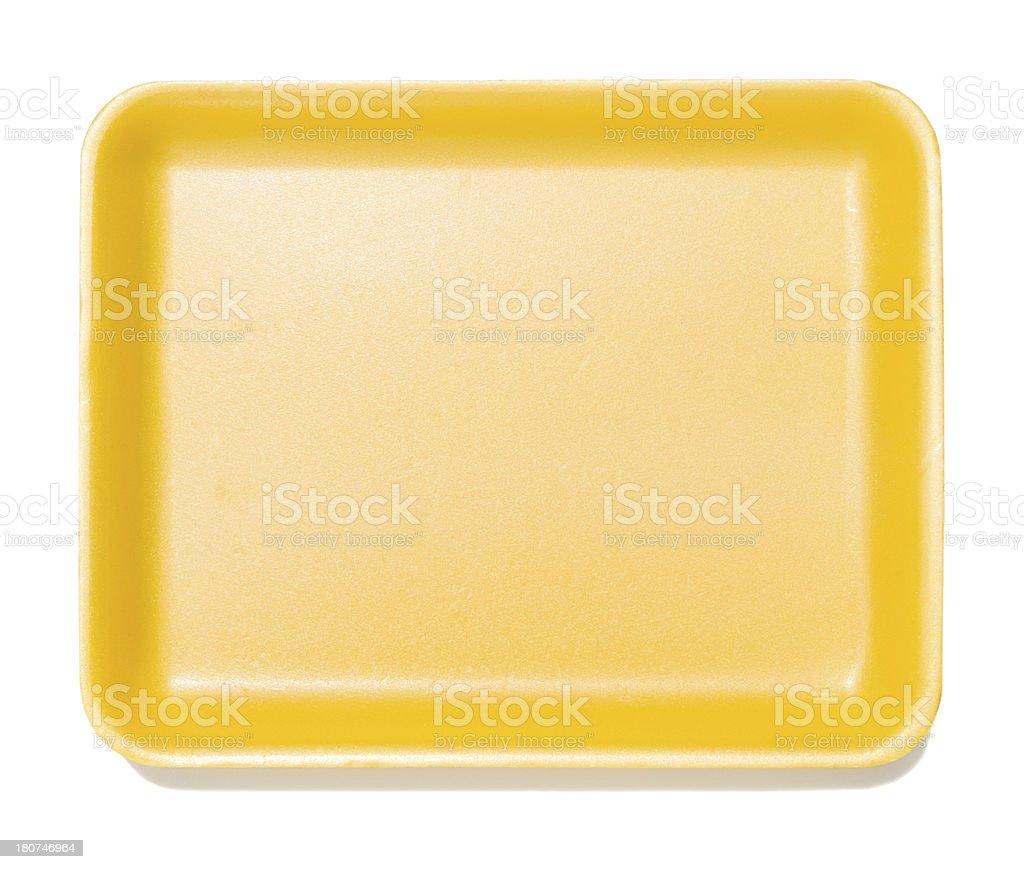 Empty styrofoam food container royalty-free stock photo