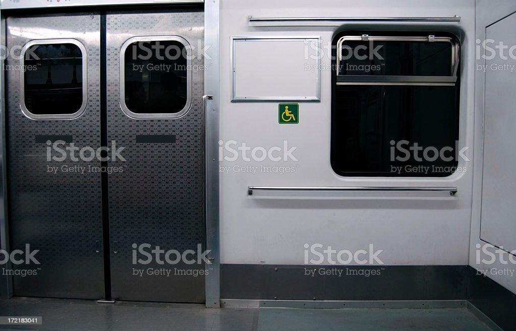 empty subway car stock photo