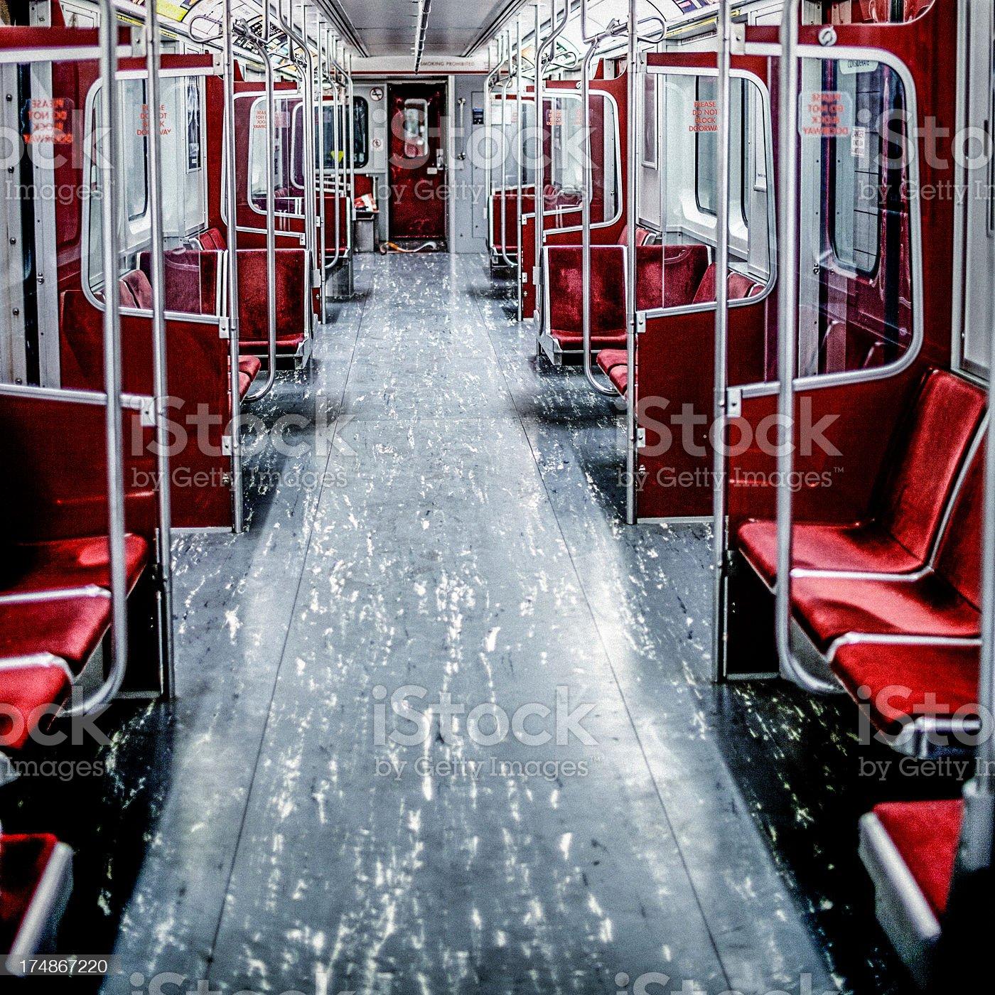 Empty subway car royalty-free stock photo