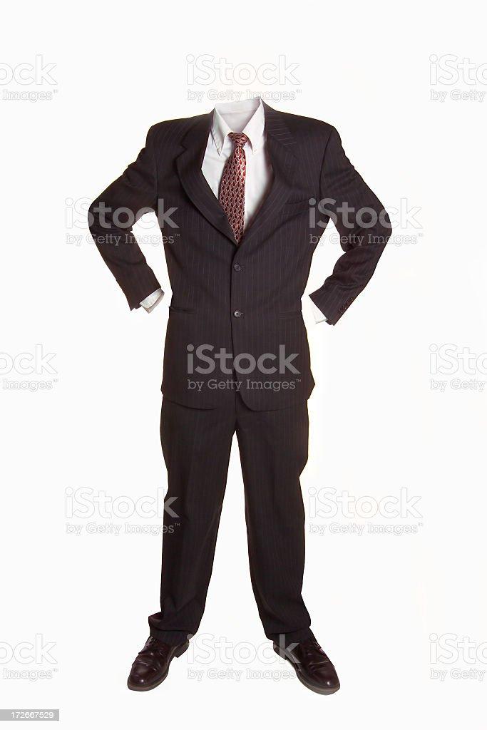 empty suit stock photo