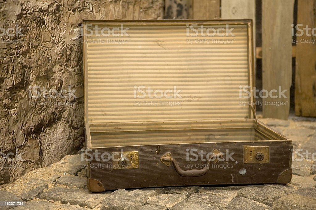 empty suitcase royalty-free stock photo