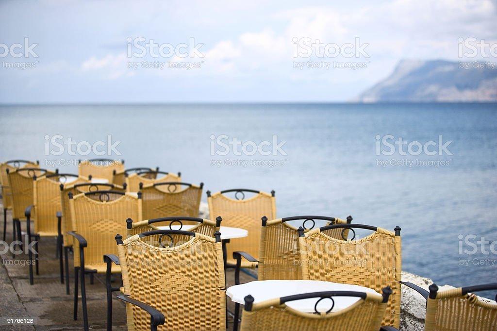 empty summer cafe royalty-free stock photo