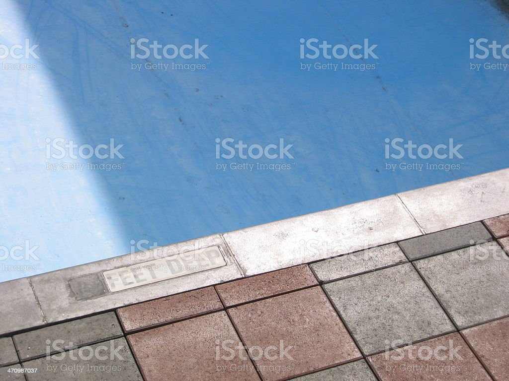 Empty Swimming Pool - B royalty-free stock photo
