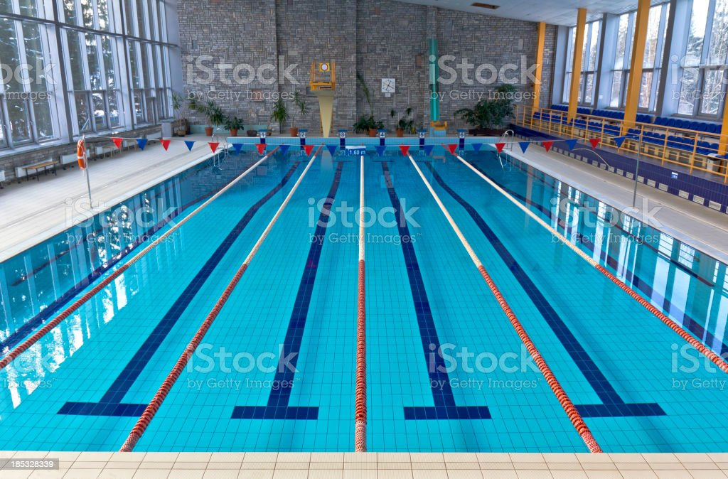 Empty swimming pool stock photo