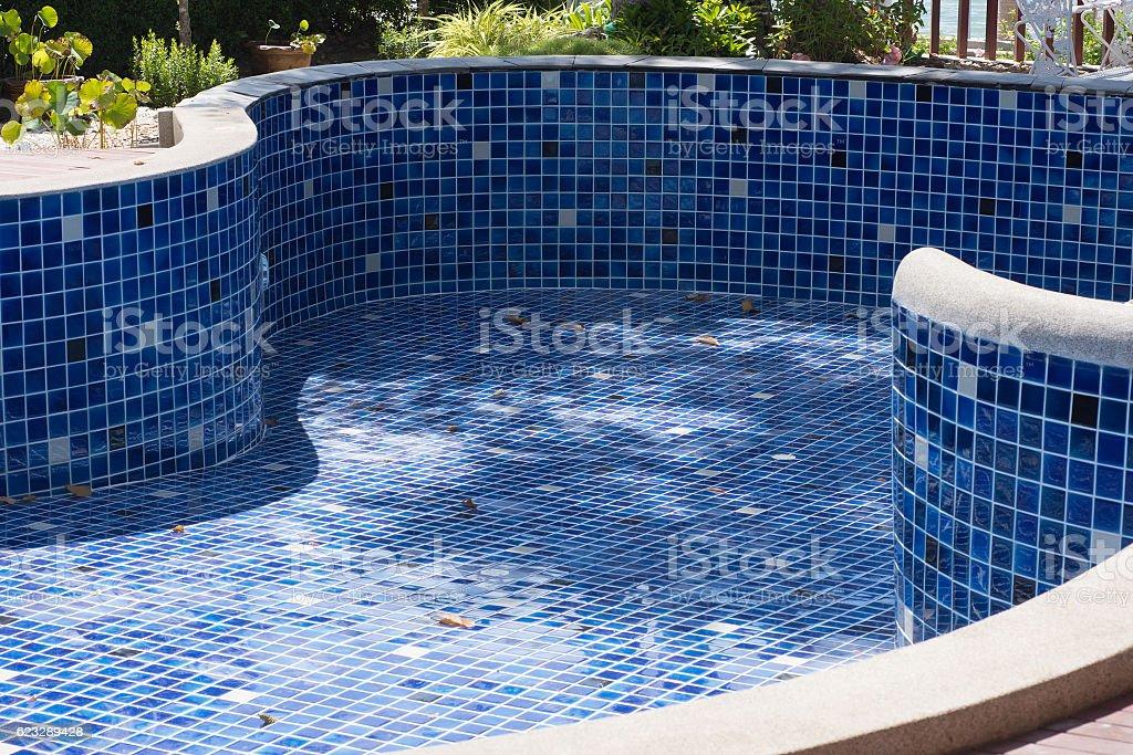 Empty Swimming Pool stock photo