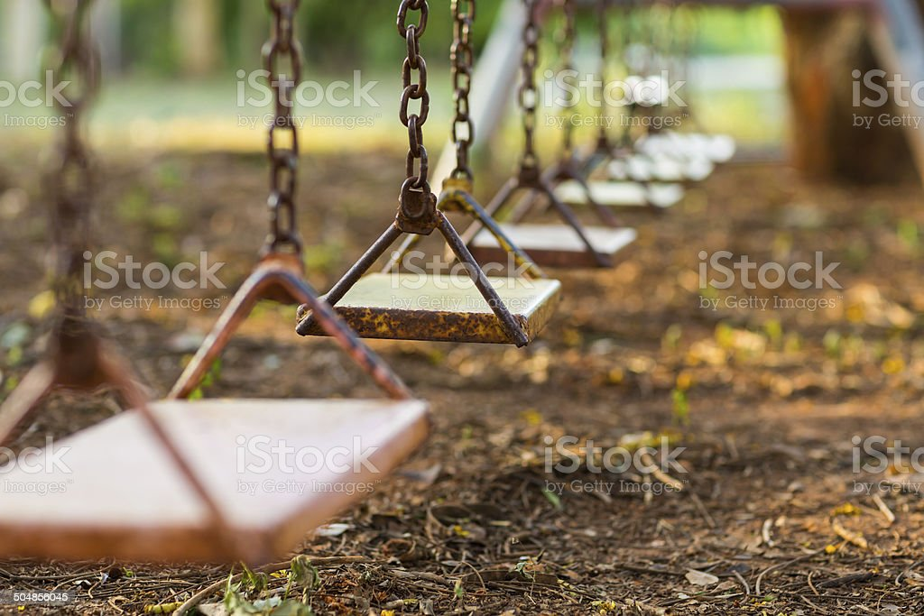 Empty Swing stock photo
