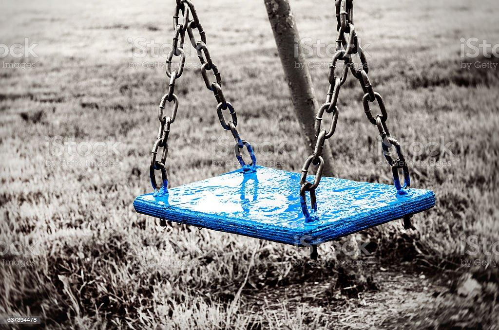 Empty swing royalty-free stock photo