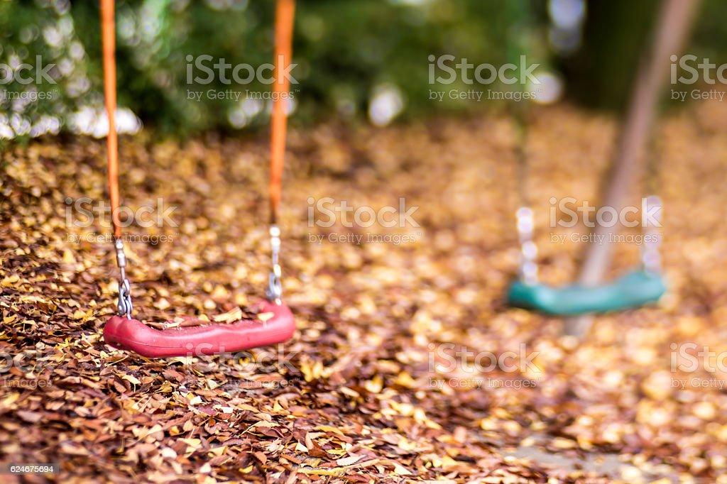 Pusty wiszące z liści jesienią sezonie zbiór zdjęć royalty-free