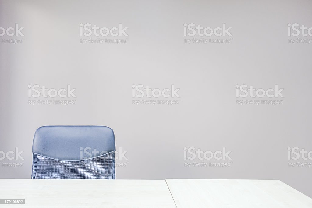 Empty table and chair in office. royalty-free stock photo