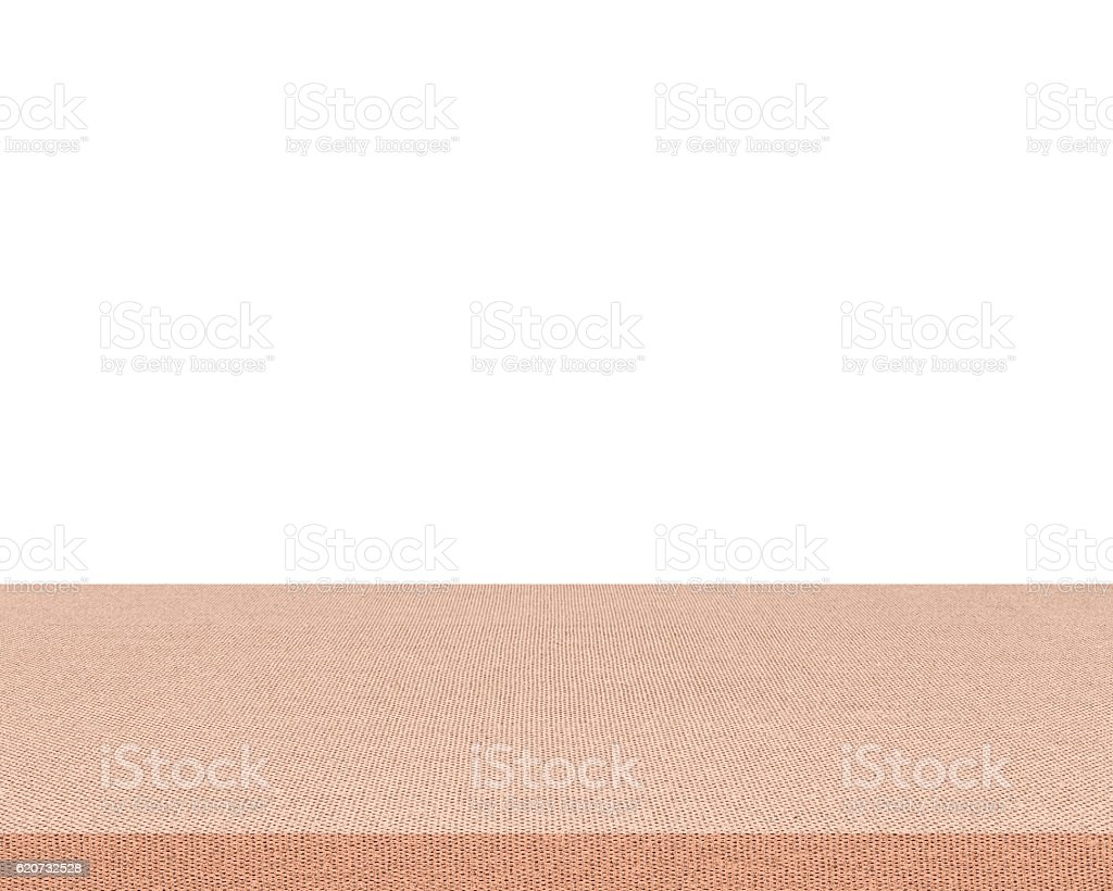 Empty table isolated on white background stock photo