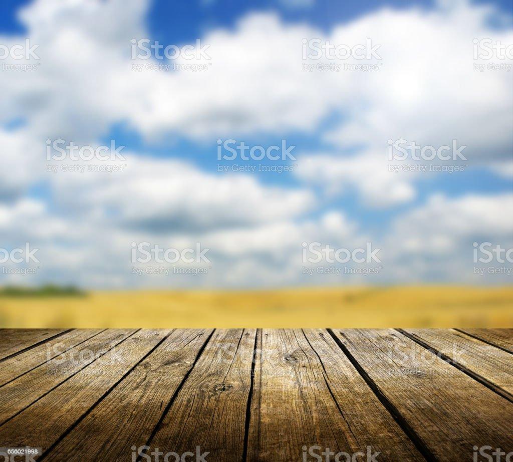Empty table stock photo