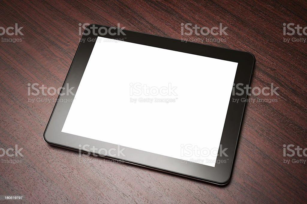 empty tablet stock photo