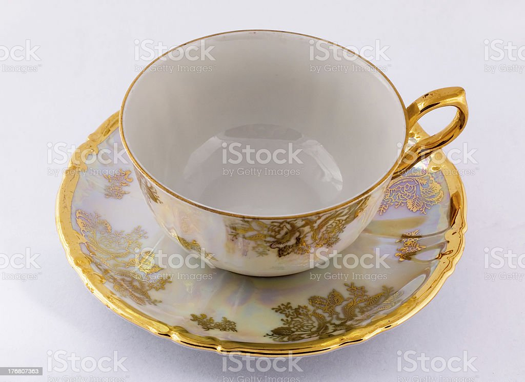 empty tea cup royalty-free stock photo