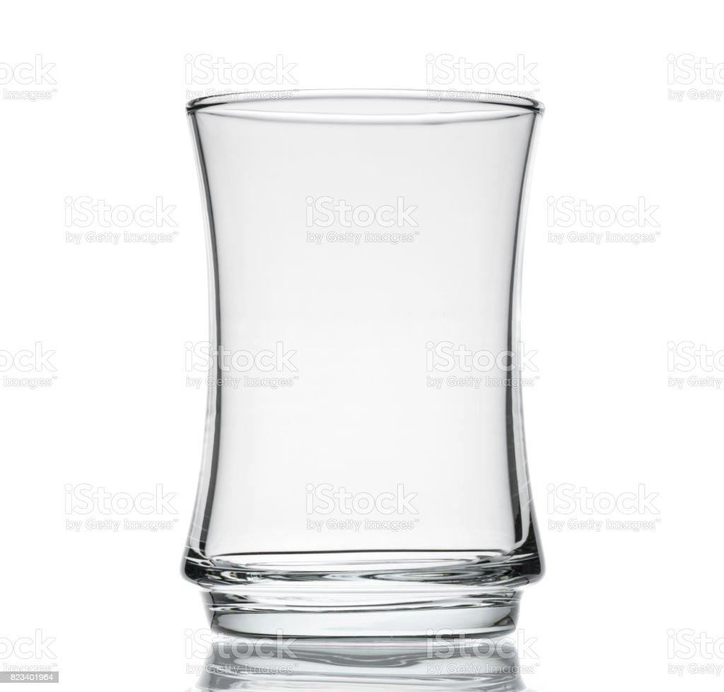 Empty Tea Glass Isolated stock photo