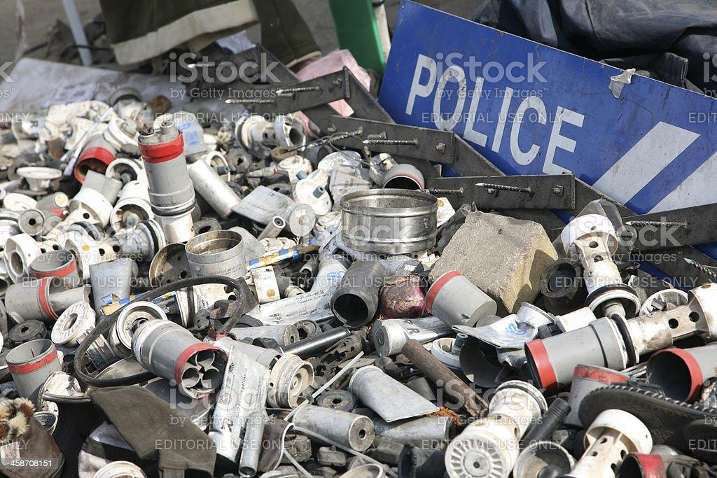 Empty Tear Gas stock photo