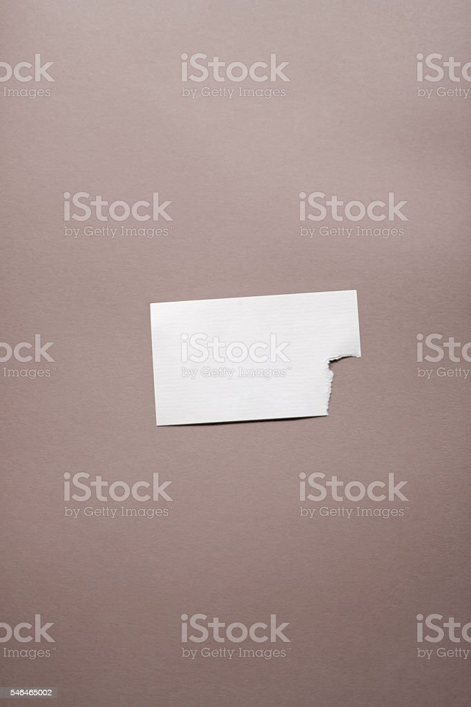 Empty Teared Business Card stock photo