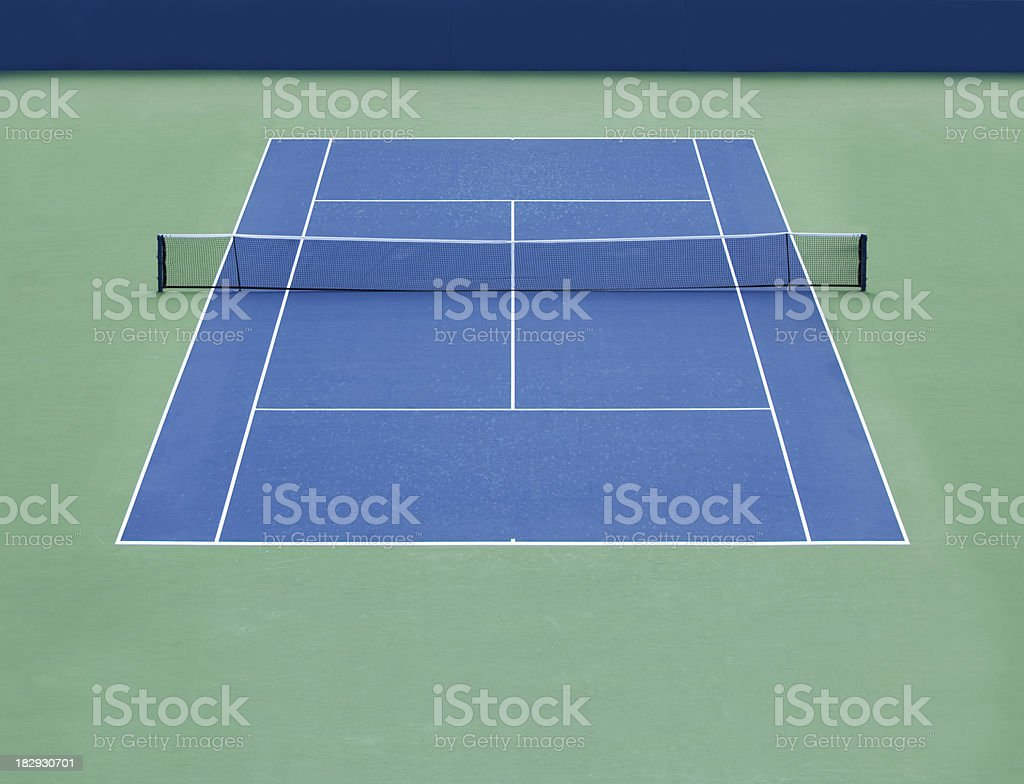 Empty tennis Hard court stock photo
