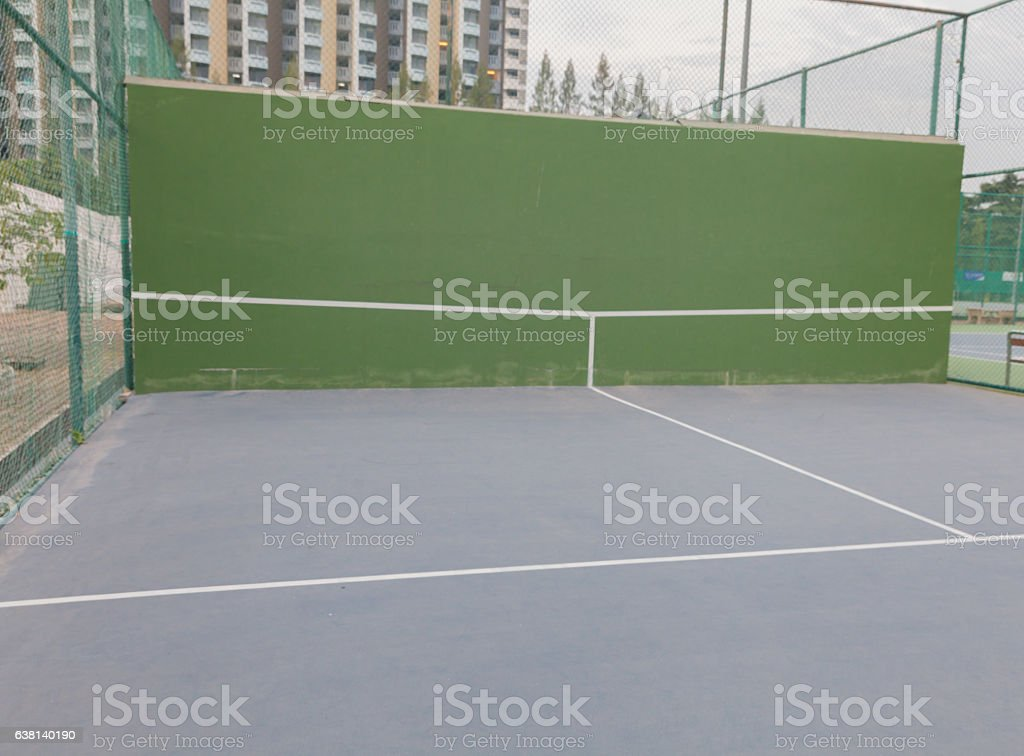 Empty tennis knock board stock photo