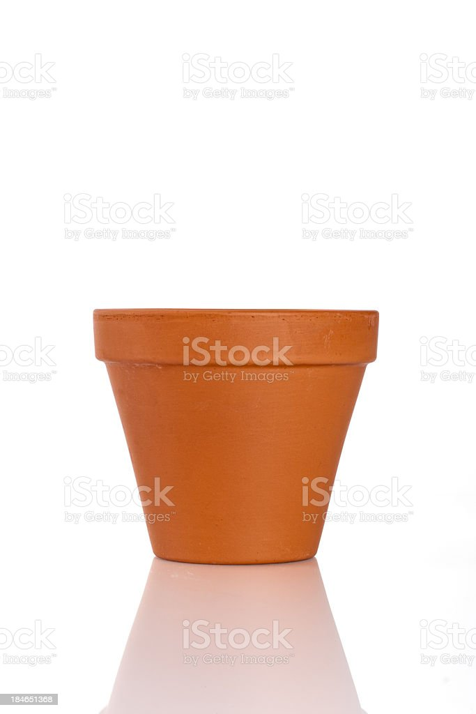 Empty Terracotta Pot stock photo