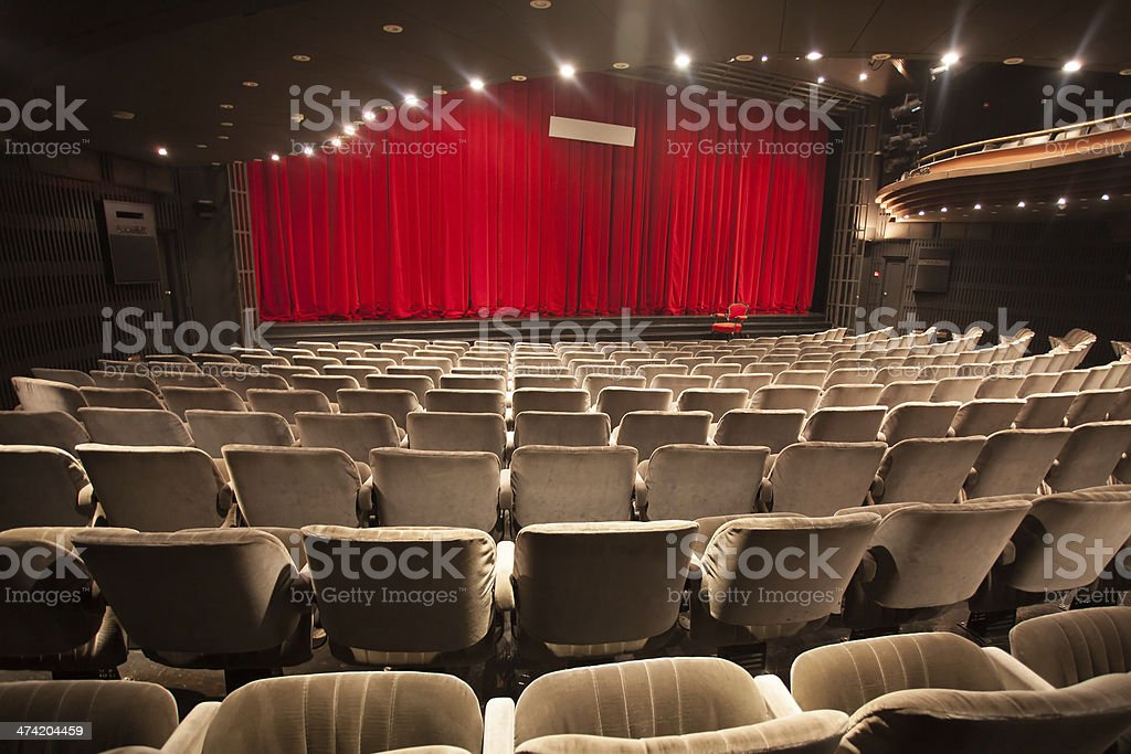 empty theater interior stock photo