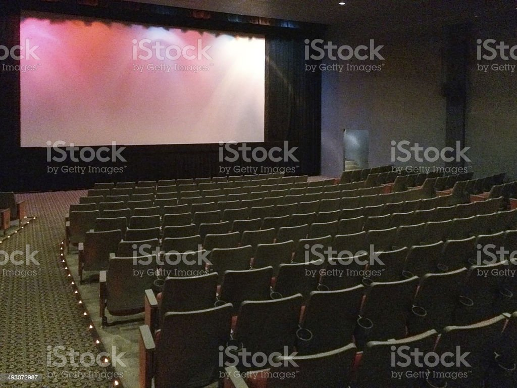 Empty Theater Screen stock photo