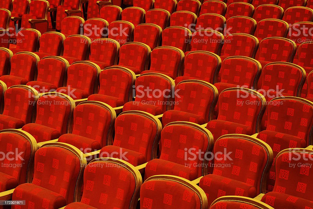Empty Theater Seating royalty-free stock photo