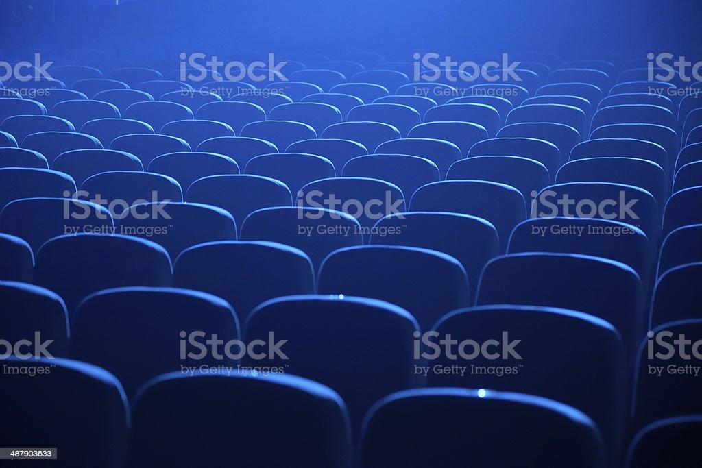 Empty theater seats stock photo