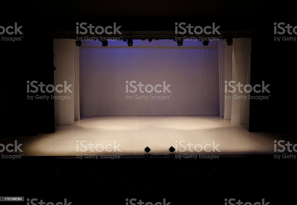 Empty theater stage stock photo