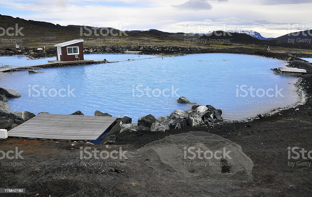 Empty thermal pool stock photo