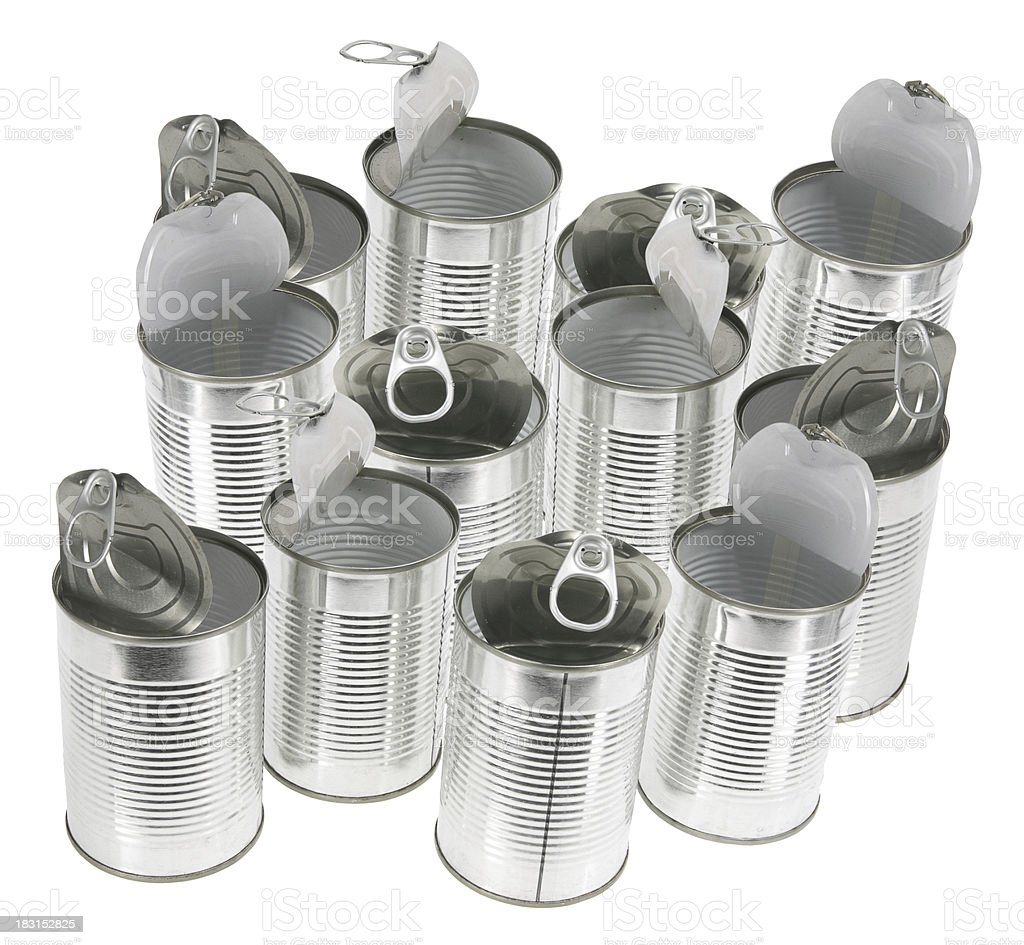 Empty Tin Cans royalty-free stock photo