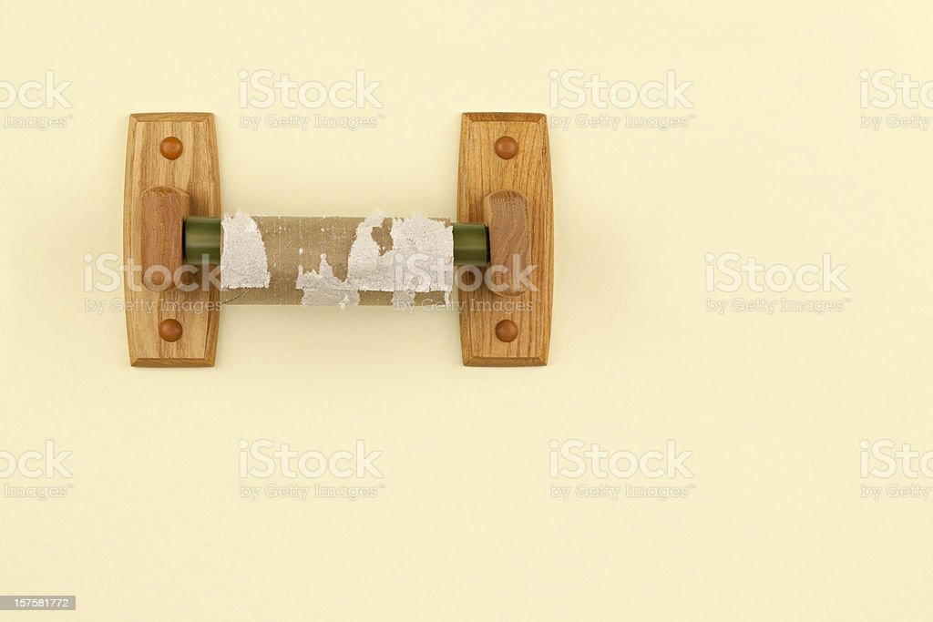 Empty Toilet Paper Roll stock photo