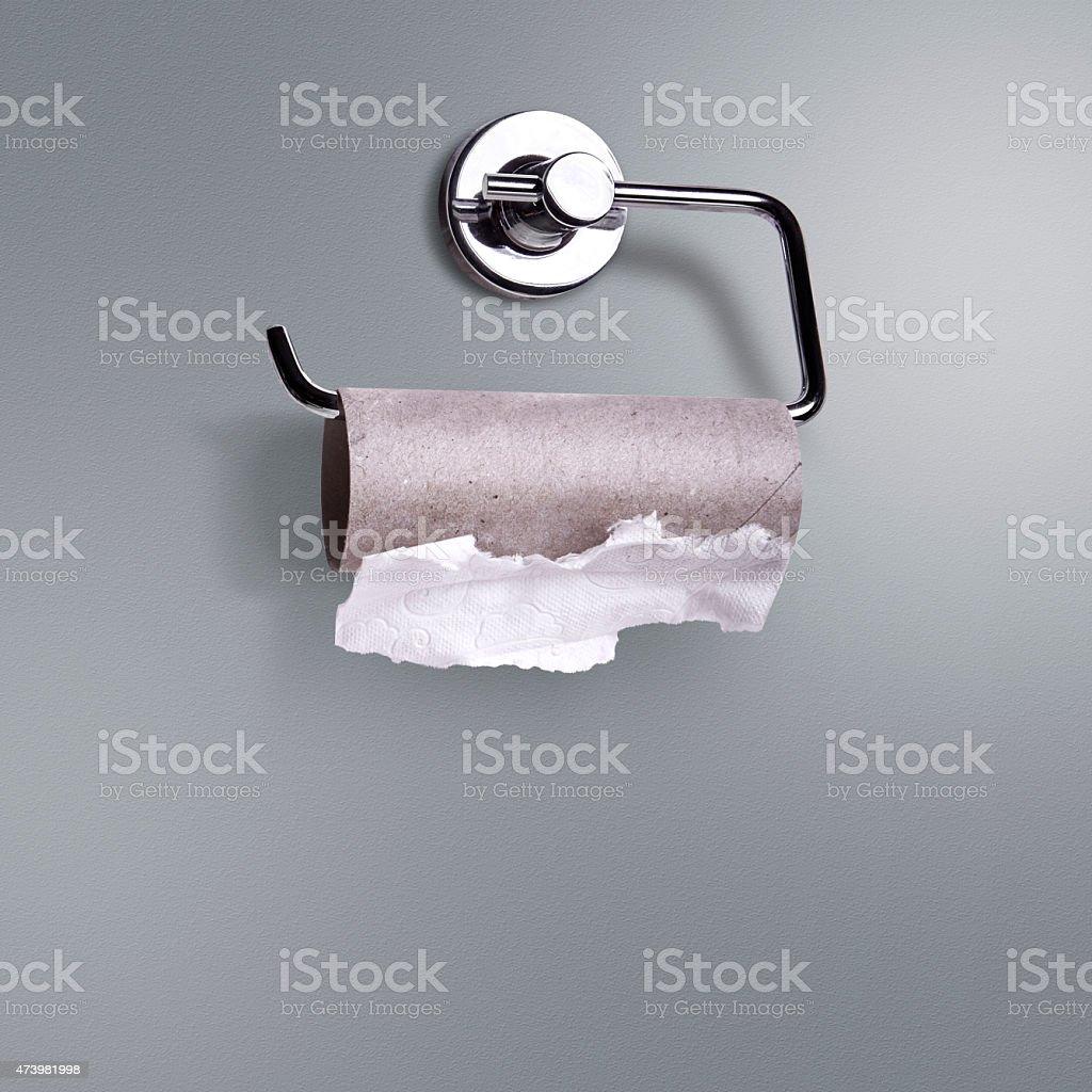 Empty Toilet Roll stock photo