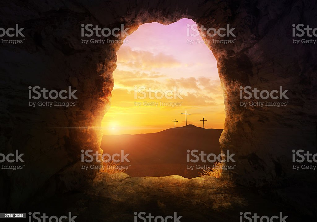 Empty tomb stock photo