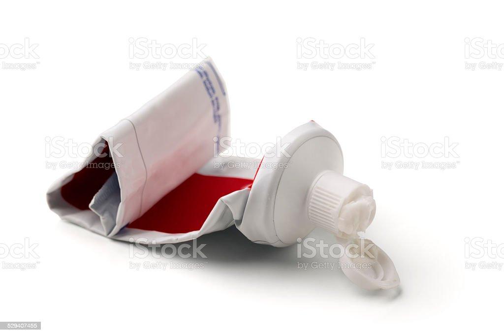 Empty Toothpaste Tube stock photo