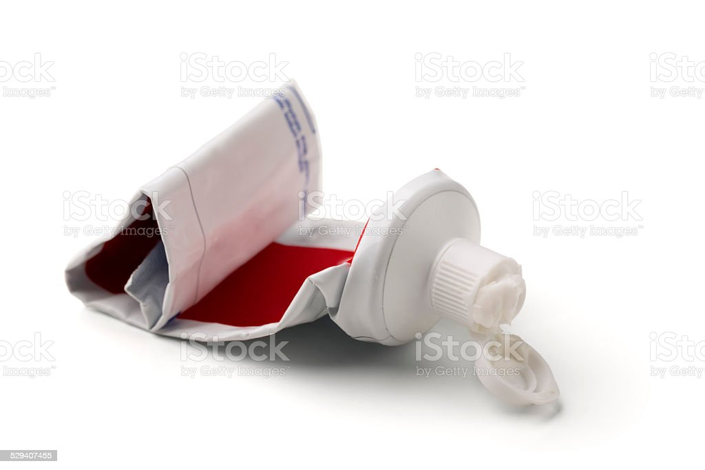 Empty Toothpaste Tube stock photo