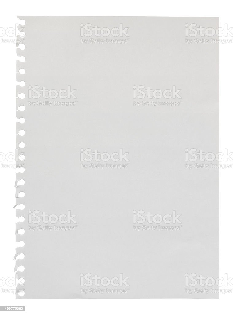 Empty torn Scrapbook page stock photo