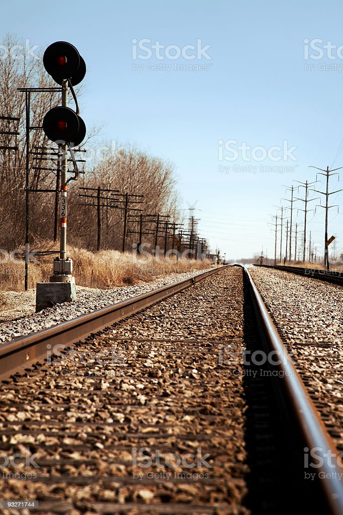 Empty Tracks royalty-free stock photo