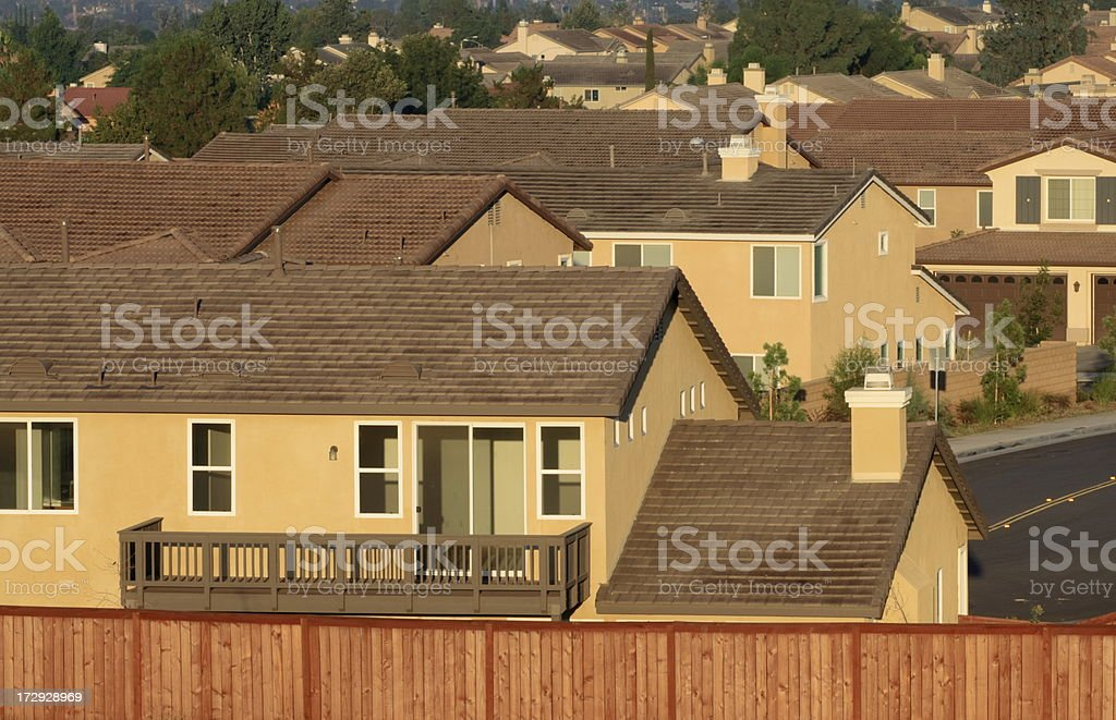 Empty Tract Home stock photo