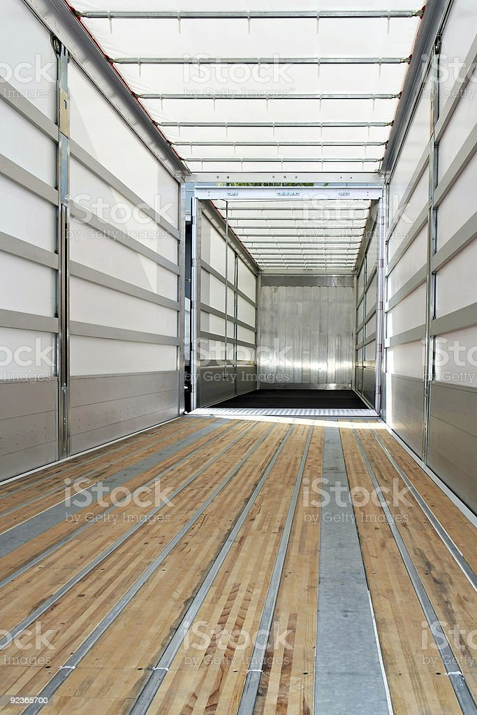 Empty trailer vertical stock photo