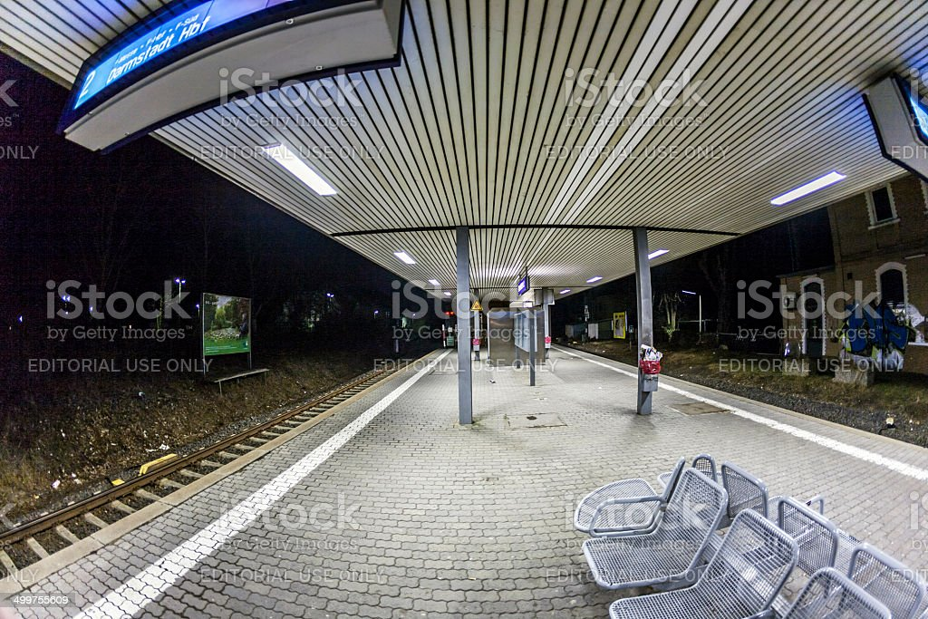 empty train station in early morning royalty-free stock photo