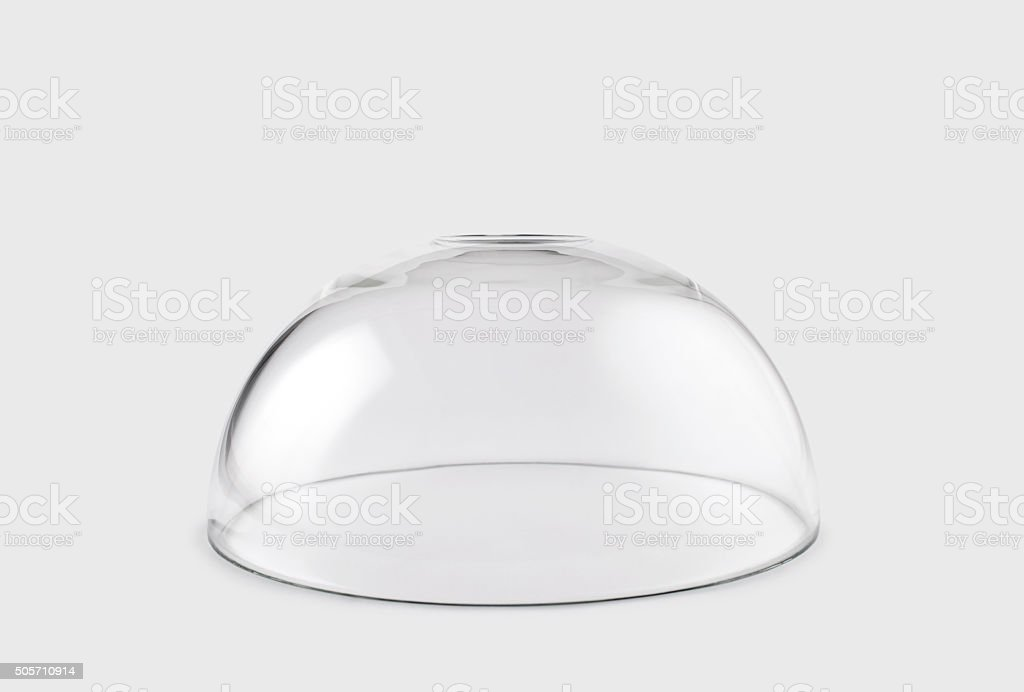Empty transparent glass dome stock photo