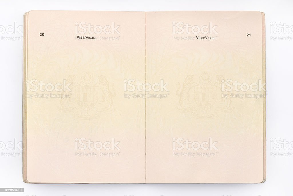 Empty Traveling Passport stock photo