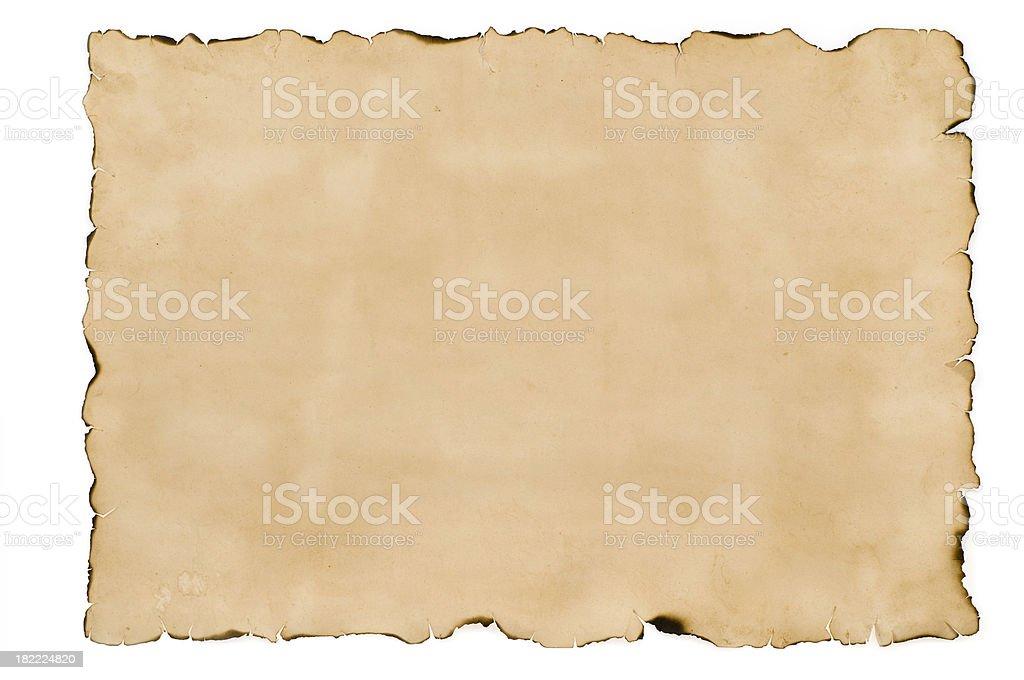 Empty treasure map paper stock photo