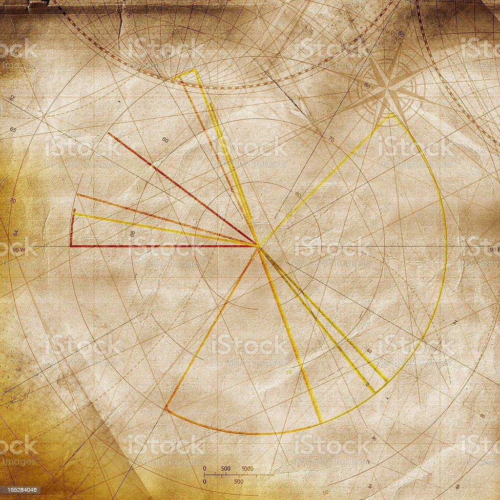 Empty Treasure Map royalty-free stock photo