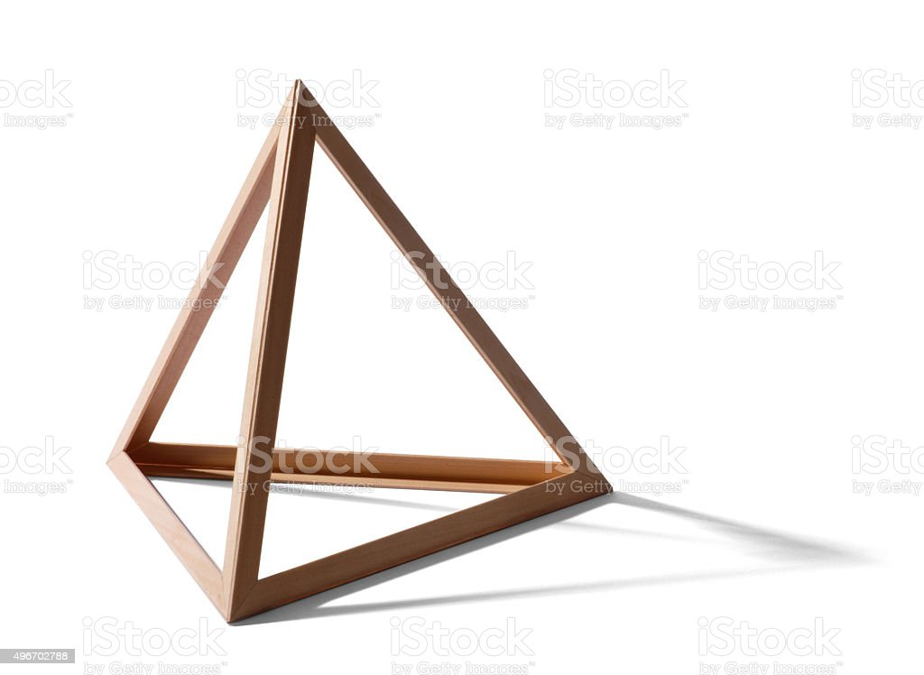 Empty triangular frame stock photo